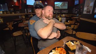 Off-Duty Trooper Saves Man Choking at Restaurant With Heimlich Maneuver thumbnail