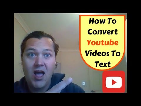 How To Convert Youtube Videos To Text - easy way to transcribe a youtube video