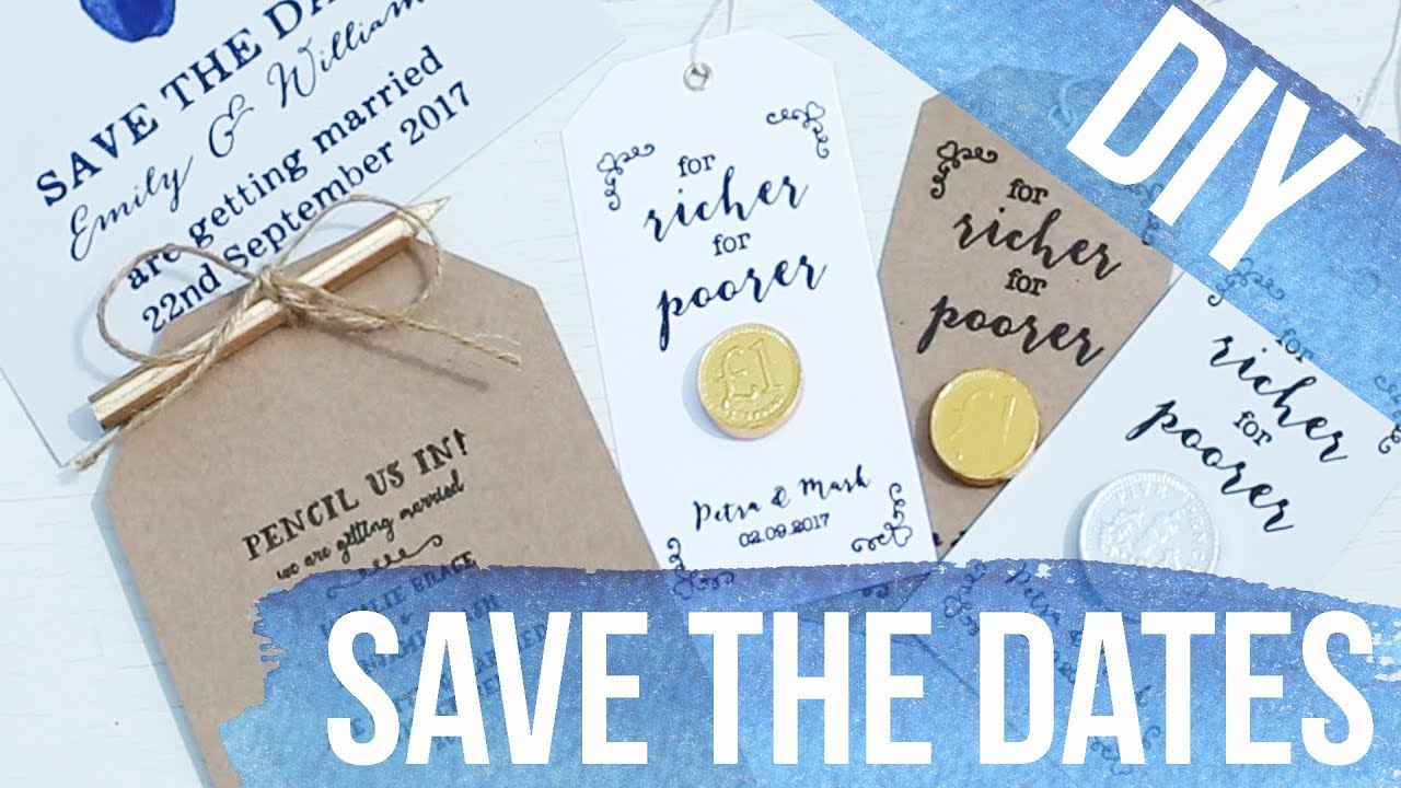 Diy budget save the date ideas youtube diy budget save the date ideas junglespirit Gallery