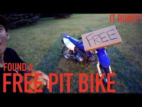 FOUND A FREE PIT BIKE!!! IT RUNS