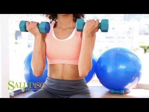 Press de hombros con mancuernas para principiantes | Muévete | Salud180