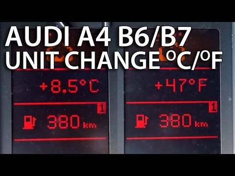 How To Change Temperature Units Audi A4 B6 / B7 (Climatronic FIS DIS Celsius Fahrenheit)