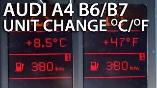 how to change temperature units audi a4 b6 b7 climatronic fis dis celsius fahrenheit