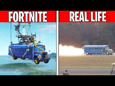 BATTLE BUS IN REAL LIFE! Fortnite Vs. Real Life