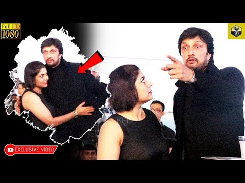Sudeep & Wife Priya Sudeep Together In KCC Launch | Sudeep Wife | Kiccha Sudeep Family