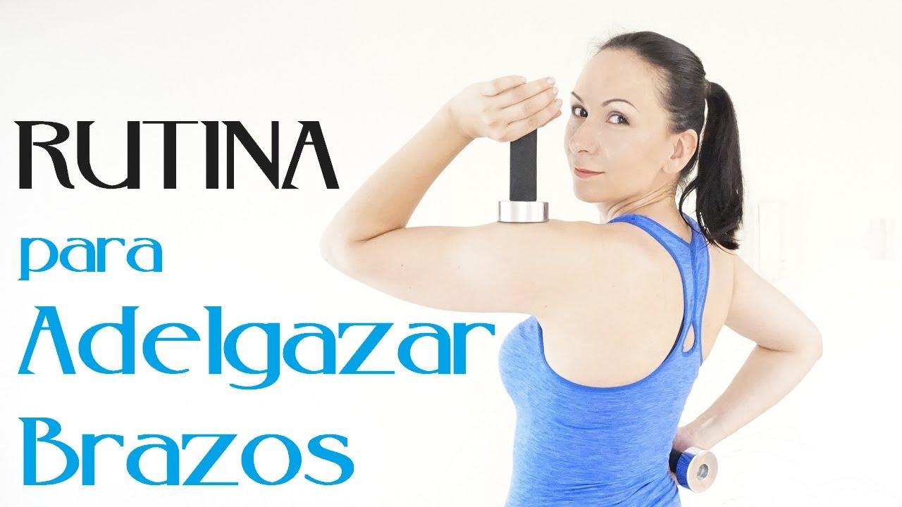 rutina de ejercicios para adelgazar brazos con pesas