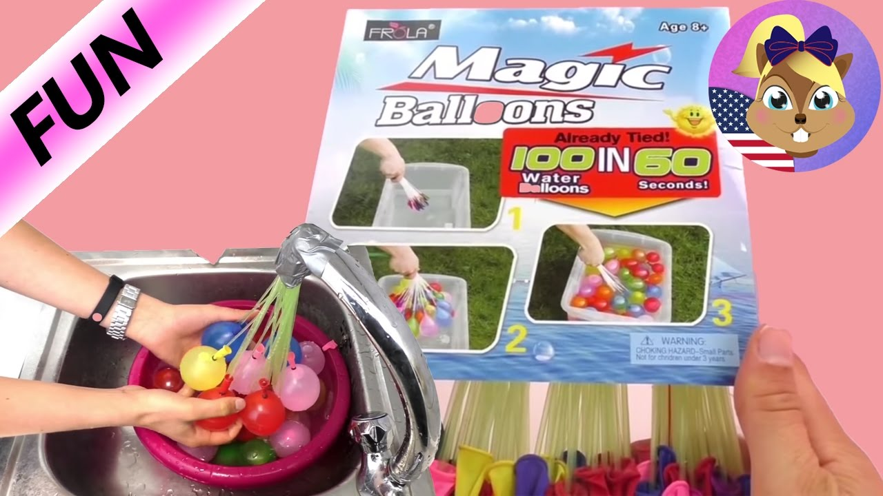 38d80a341 How to make 100 Water Balloons in 60 Seconds Demo - how to fill water  balloons fast
