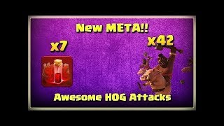 How To 7 Skeleton Spells + Mass Hog Rider TH11 3 Star Attacks Clash of Clans?