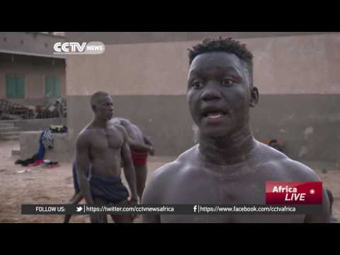 Many young men in Senegal seek fame and fortune through combat sport