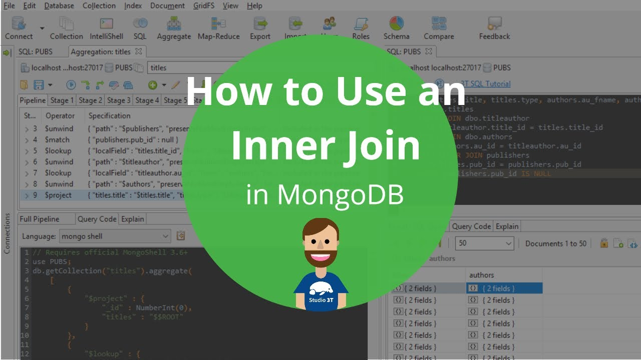How to Create MongoDB Joins Using SQL | Studio 3T