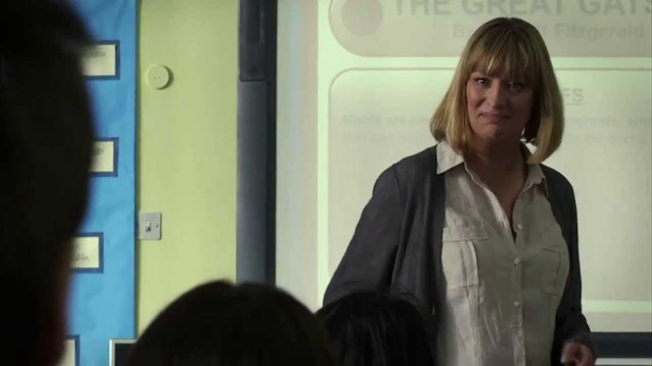 Connor Challenges Christine In Class Waterloo Road Youtube