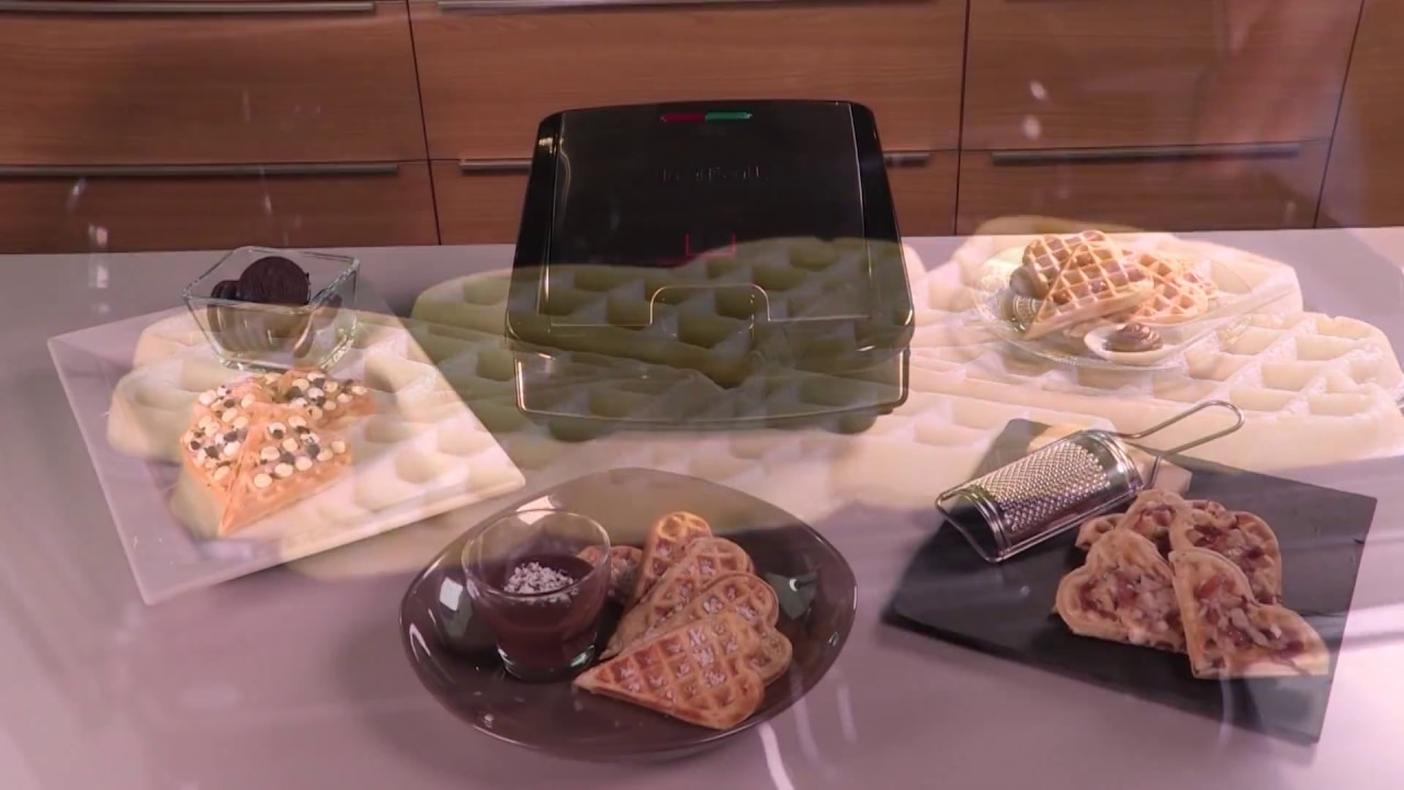 tefal snack collection no 6 heart shaped waffle plates. Black Bedroom Furniture Sets. Home Design Ideas