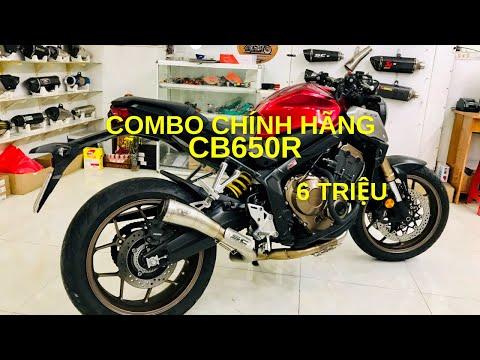 Honda CB650R độ pô chính hãng chỉ 6 TRIỆU   CB650R pô R9 Real Muffler