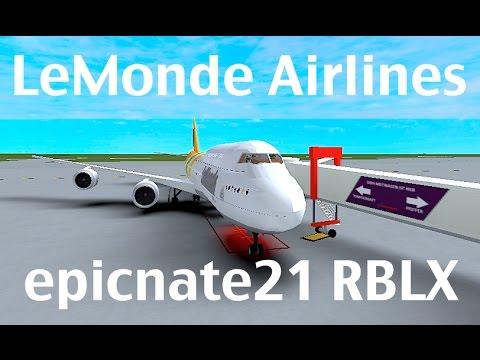 ROBLOX | LeMonde Airlines Boeing 747-8i Flight