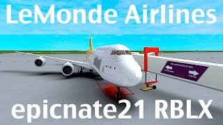 ROBLOX | LeMonde Airlines Boeing 747-8i Flight