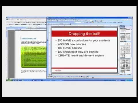 Online Training Administrator Webinar (Best Practices: Registrations and Maintenance) Jan/16/2013