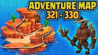 Monster Legends: Adventure Map - Level 321 to 330.