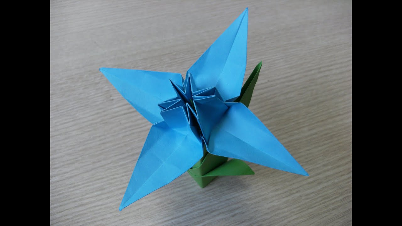 3d Origami Flower Daffodil How To Make Youtube