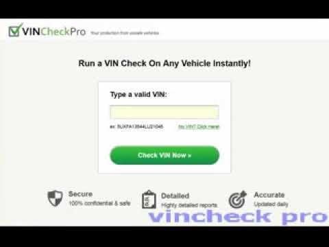 Vincheckpro Vs Carfax Reddit Vincheckpro Free Vincheckpro Bbb Youtube