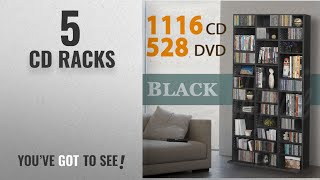 Top 10 Cd Racks [2018]: 1116 CD/528 DVD Storage Shelf Rack Unit Adjustable Book Bluray Video
