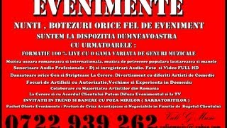 MUZICA DE PETRECERE VALI G - NUNTA - BOTEZ - FORMATIE -LAUTARI - FOCURI ARTIFICII