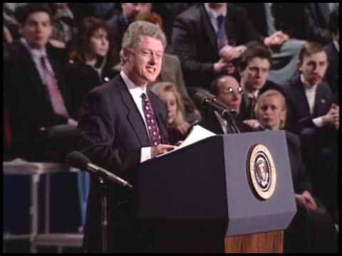President Clinton in Town Hall Meeting in Moscow (1994)