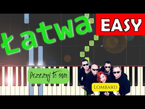 🎹 Przeżyj to sam (Lombard) - Piano Tutorial (łatwa wersja) 🎹