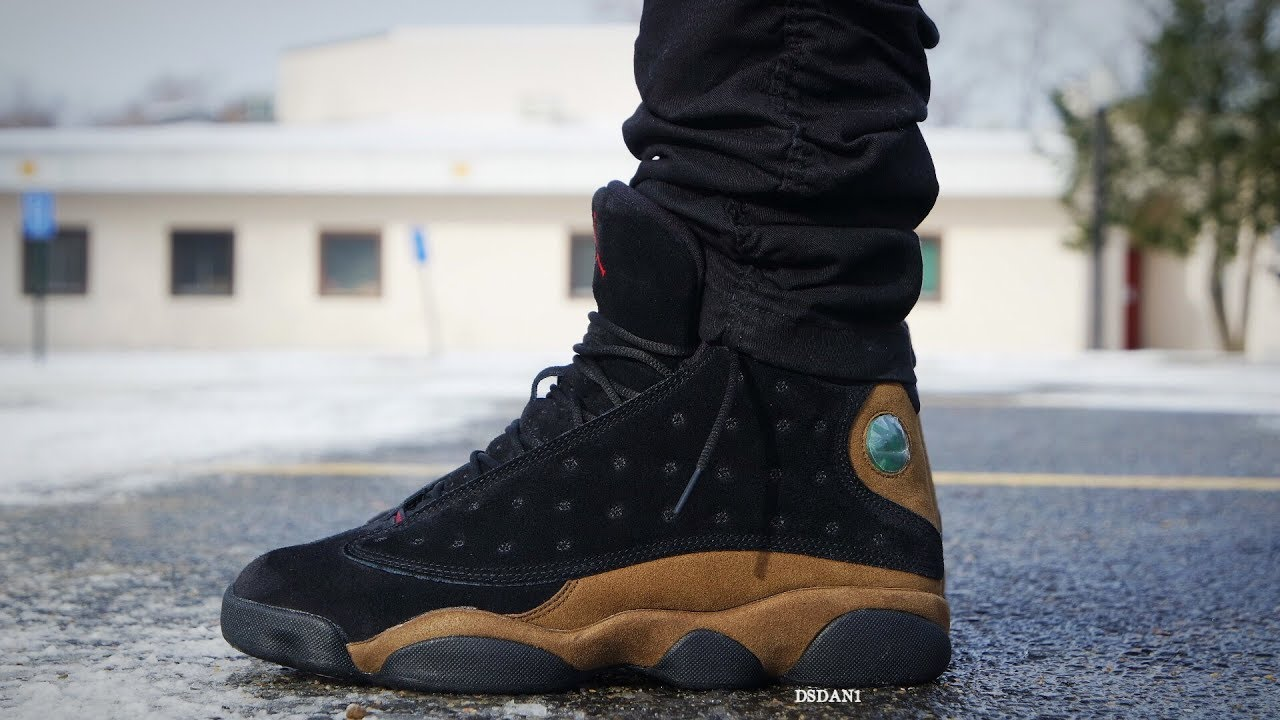 "15b13797c02 2018 AIR JORDAN 13 ""OLIVE"" REVIEW & ON FEET! - YouTube"