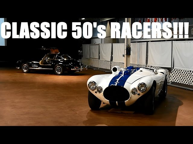 AWESOME 50's Race Cars Driving at the Simeone Museum- Cunningham, C-Type, Allard, Gullwing