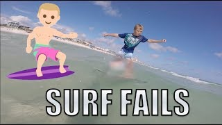 EPIC SURFING FAILS AT THE BEACH