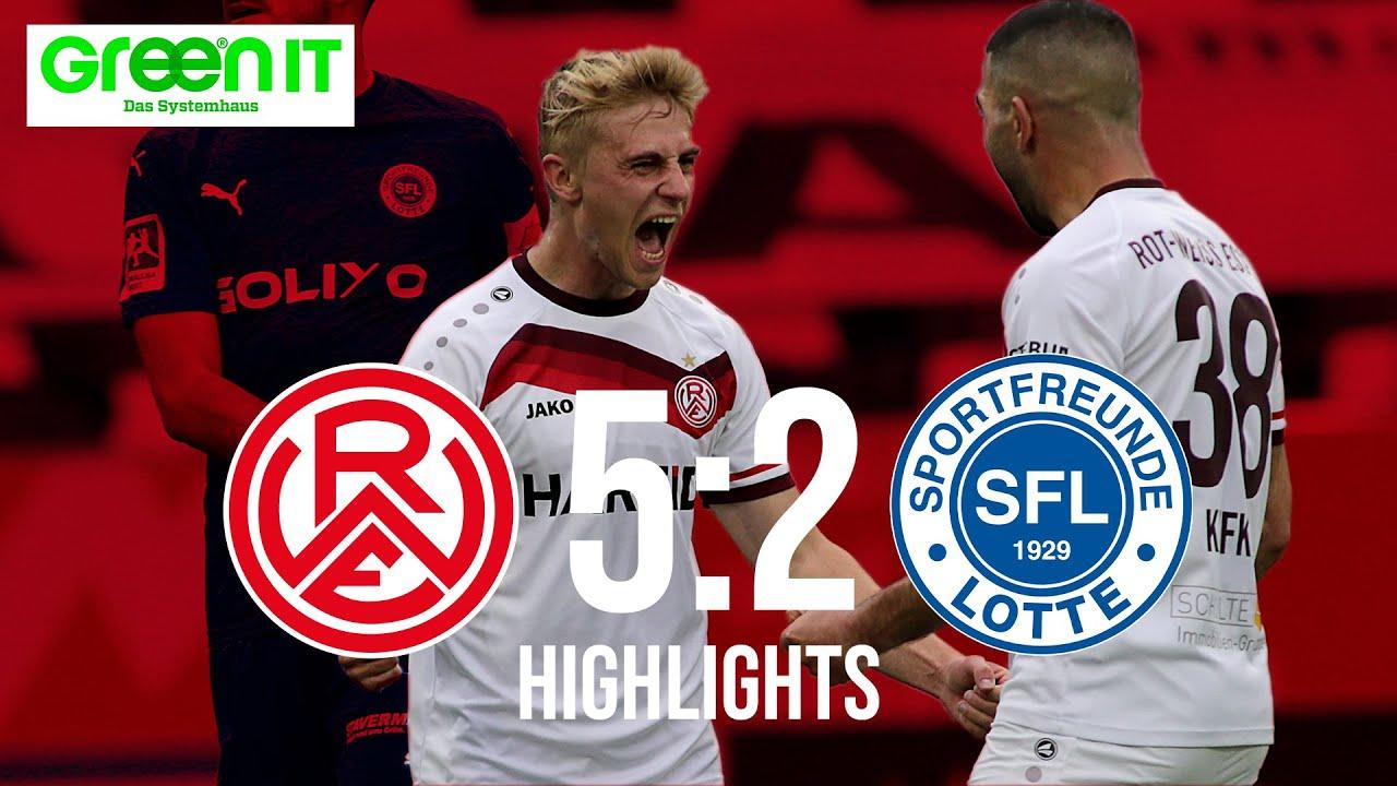 41. Spieltag - Saison 2020/2021: RWE - Sportfreunde Lotte (Highlights)