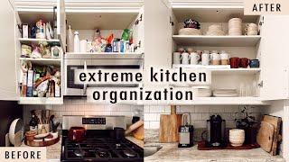 extreme kitchen organization + cleaning | XO, MaCenna Vlogs