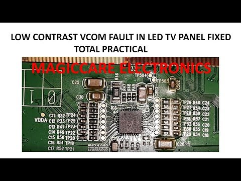 LOW CONTRAST VCOM FAULT & VERTICAL ROLLING IN CHINA 32 INCH LED PANEL FULL PRACTICAL BY VINOD KENNY