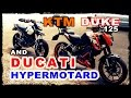 KTM Duke 125 & Ducati Hypermotard,On Board Speed Ride,Velocity do Accident,Laranjinha,Falperra,Braga