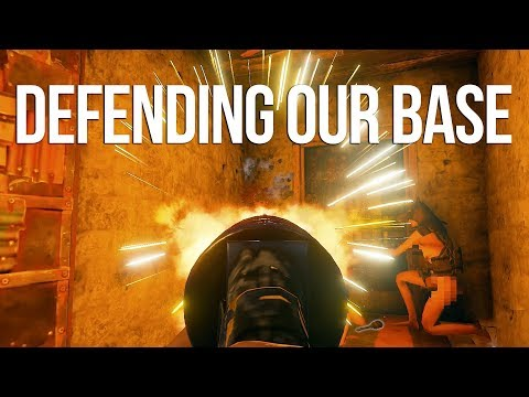 Defending Our Base From INVADERS! - Rust Group Survival #2