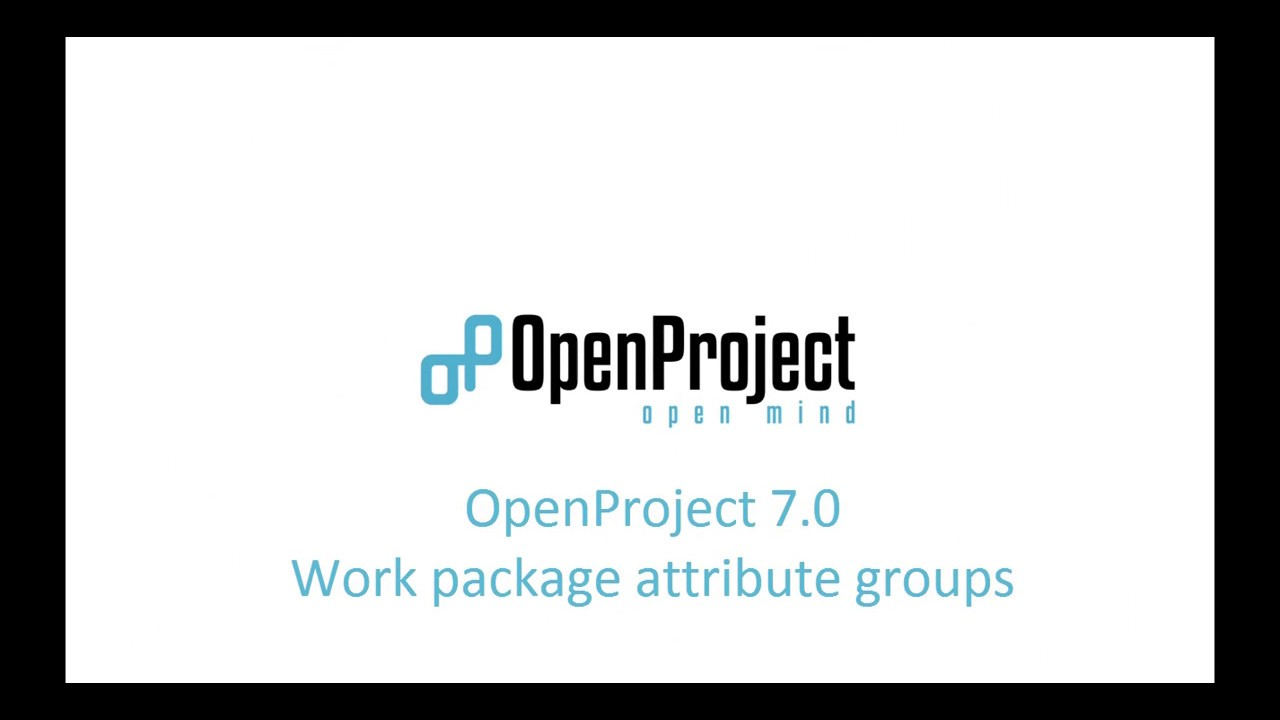 OpenProject 7 0 preview - Work package attribute groups