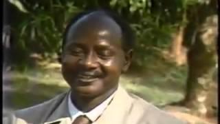 Yoweri Kaguta 1986 explaining about Sugar Crisis