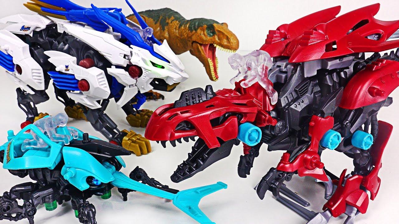 Zoids Wild beast Wilds Liger and insect Kabtor VS dinosaur Gilraptor battle! #DuDuPopTOY
