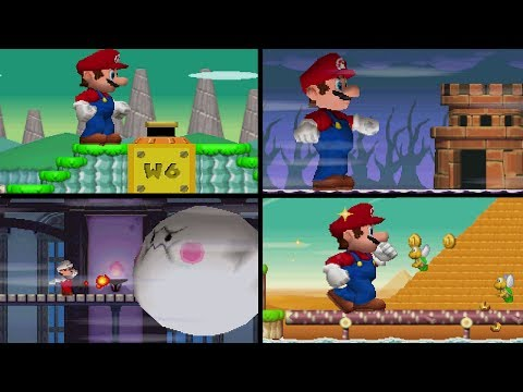 New Super Mario Bros. DS All Warp Cannons