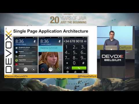 Getting Single Page Application Security Right by Philippe De Ryck