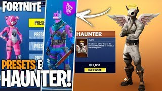 SKIN HAUNTER, THE ANGEL OF DEATH AND SKINS PRESETS AT FORTNITE! Concept