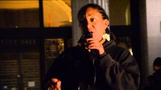 2014/02/04 Cat Speaking at Stop the DAC!  Party - Oscar Grant Plaza, Oakland, CA