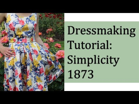 Make a Beautiful Dress for all Occasions!  Simplicity 1873 Pattern Tutorial
