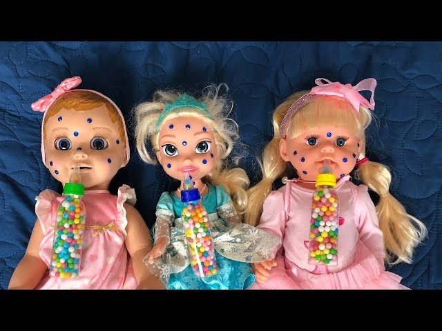 Story about DOLLS and color bottles Video for Kids with  JoyJoy Lika