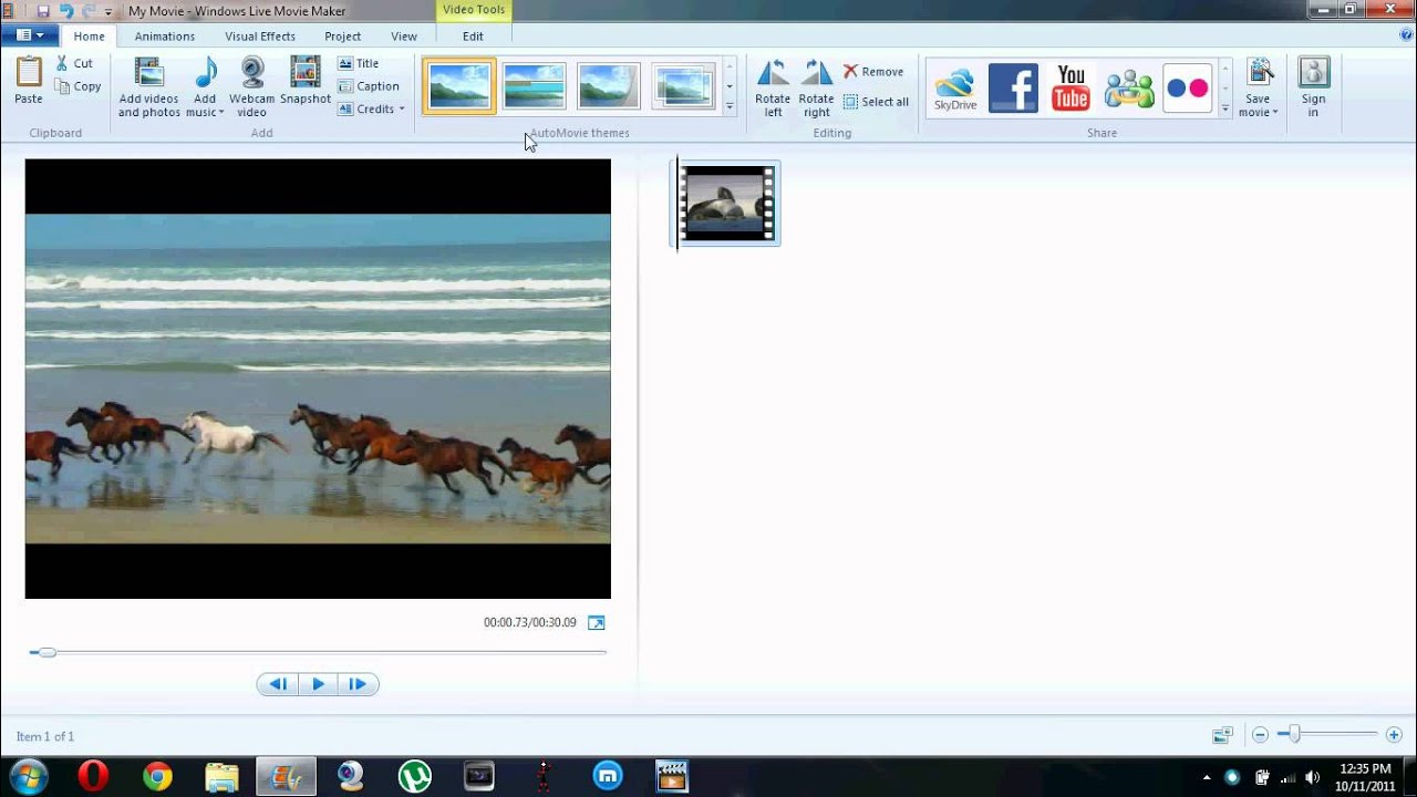 windows movie maker how to get rid of black bars
