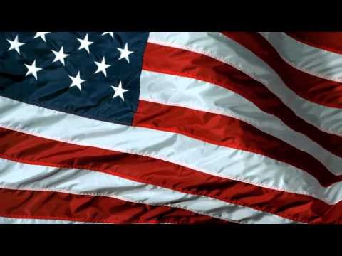 Royalty Free American Flag USA HD Slow Motion Close Up