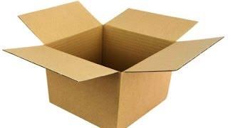видео картонная коробка