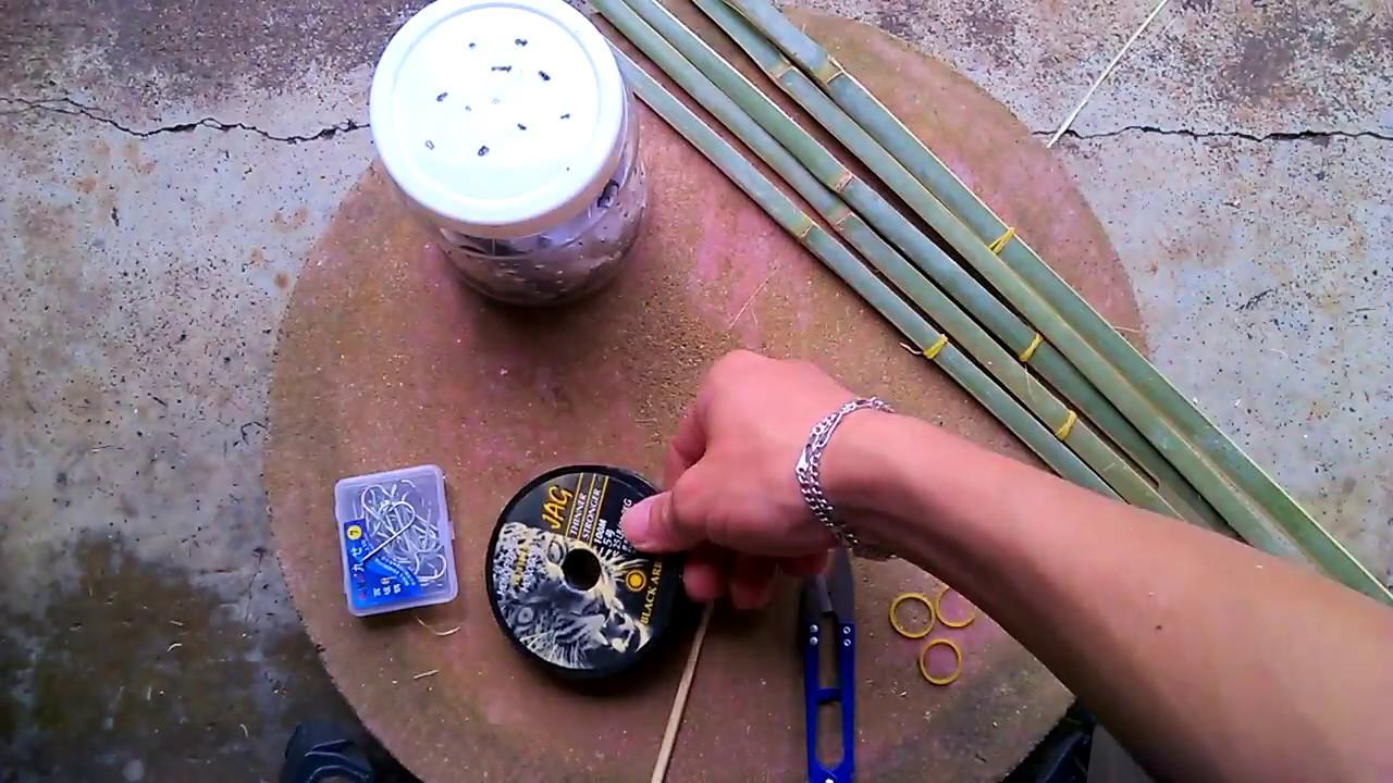 Hướng dẫn làm cần câu cắm cá lóc (making fishing-rod)
