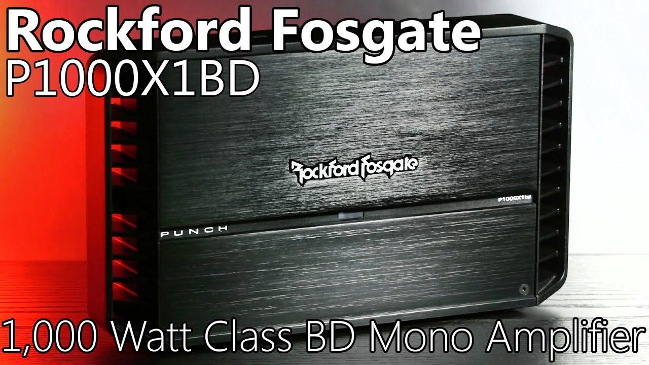 Rockford Fosgate P1000X1BD 1,000 Watt Car Subwoofer Amplifier