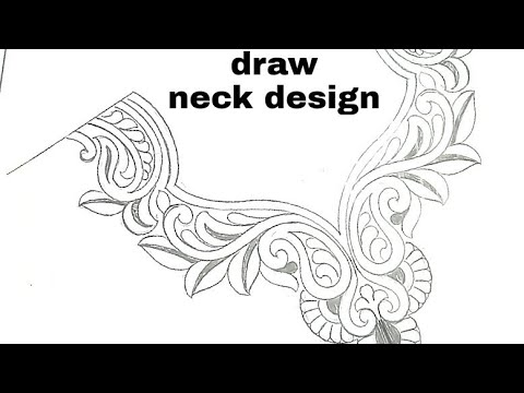 Neck design pencil drawing embroidery neck designs sketch